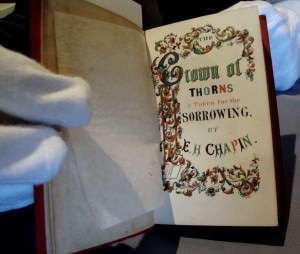 """""""The Crown of Thorns, a Token for the Sorrowing"""" Edwin H. Chapin. Boston: A. Tompkins, 1847."""