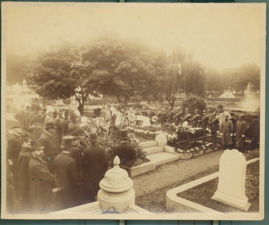 Funeral Service for Colonel Austin C. Wellington Cabinet Card, September 23, 1888